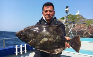 巨大ヒラメ・底物釣果(4月23日)