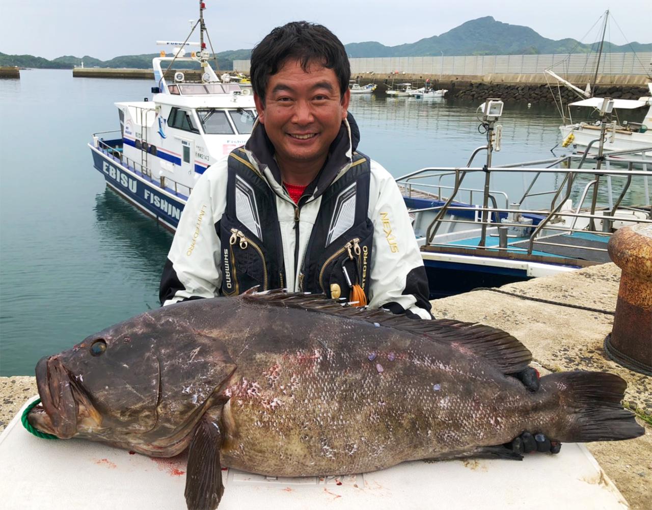 アラ(19.1キロ・105センチ)底物好釣果!